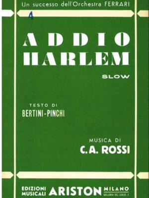 addio harlem_c. a. rossi_ariston